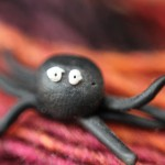 black spider made from fimo clay