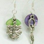 Goddess and Green Man earrings