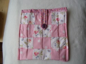Pink and White ipad cover in cath Kidson and Laura Ashley fabrics