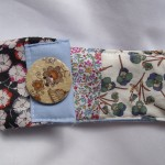 fabric glasses case with big button