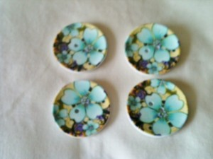 Turquoise floral buttons