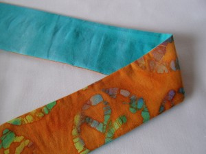 teal and orange hippy fabric