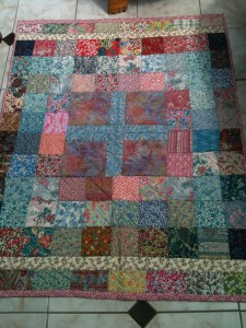 patchwork quilt - multi coloured