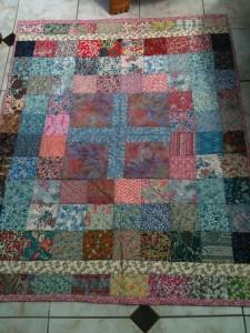 patchwork quilt - multi coloured