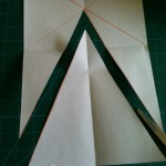 bunting template cut out from A4 paper