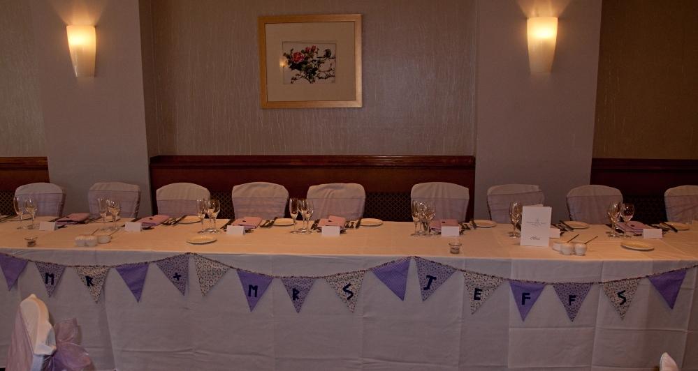 lilac wedding bunting