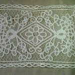 white lace mat