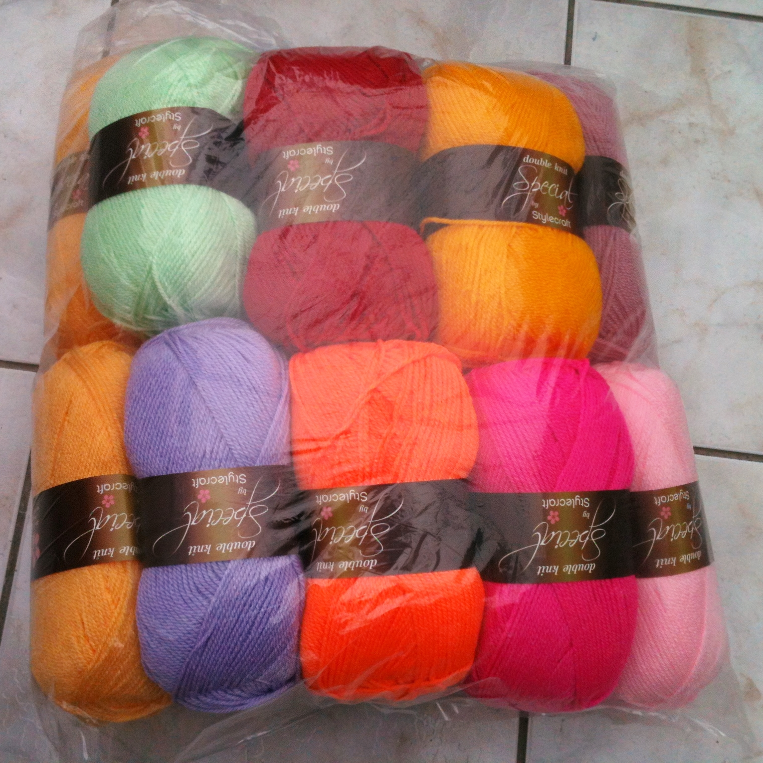 New balls of Stylecraft Special Double Knit