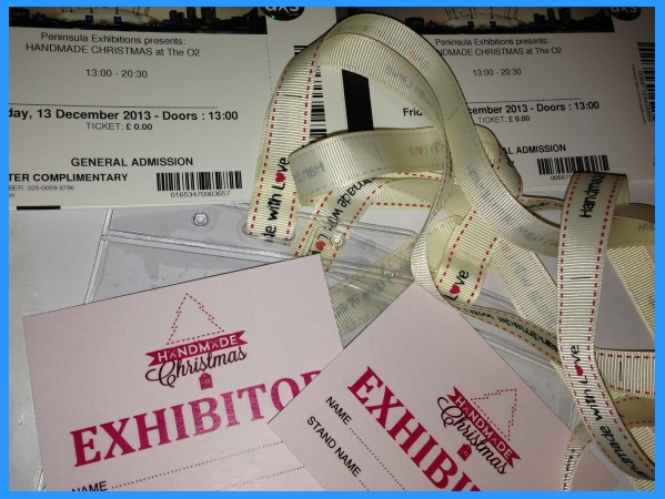 exhibitor pass for Handmade Christmas at the 02