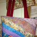 patchwork bag with stippling