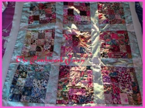 patchwork quilt top using Liberty Tana Lawn