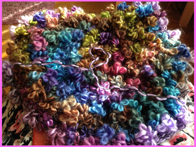 flower wool for a new crochet hat