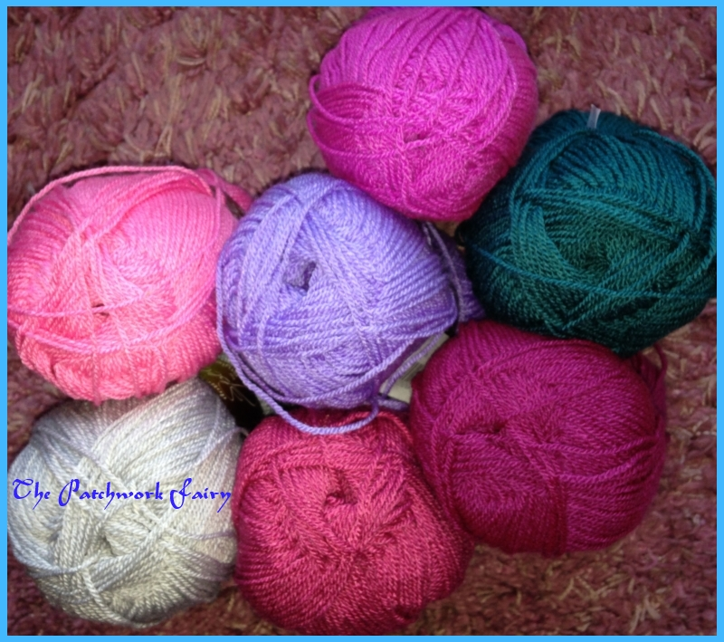 Stylecraft premium Acrylic in pinky purple colours