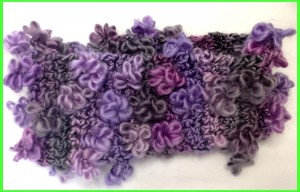 Crochet Headband in flower Yarn