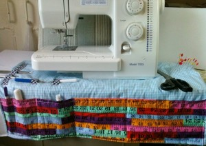 sewing mat in cotton fabric
