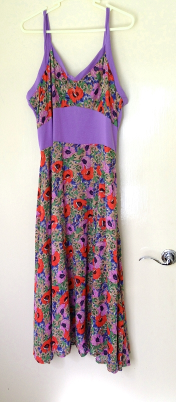 sundress in poppy flower fabric