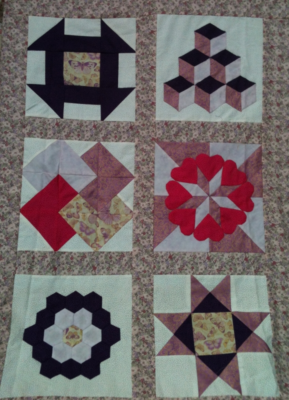 6 block sample quilt