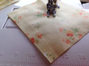 quilting yellow floral fabric
