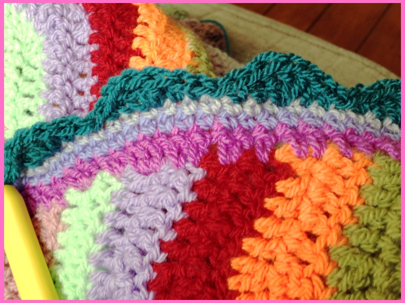 multi coloured blanket