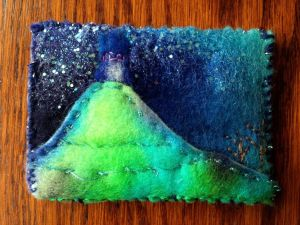 textile picture of Glastonbury Tor
