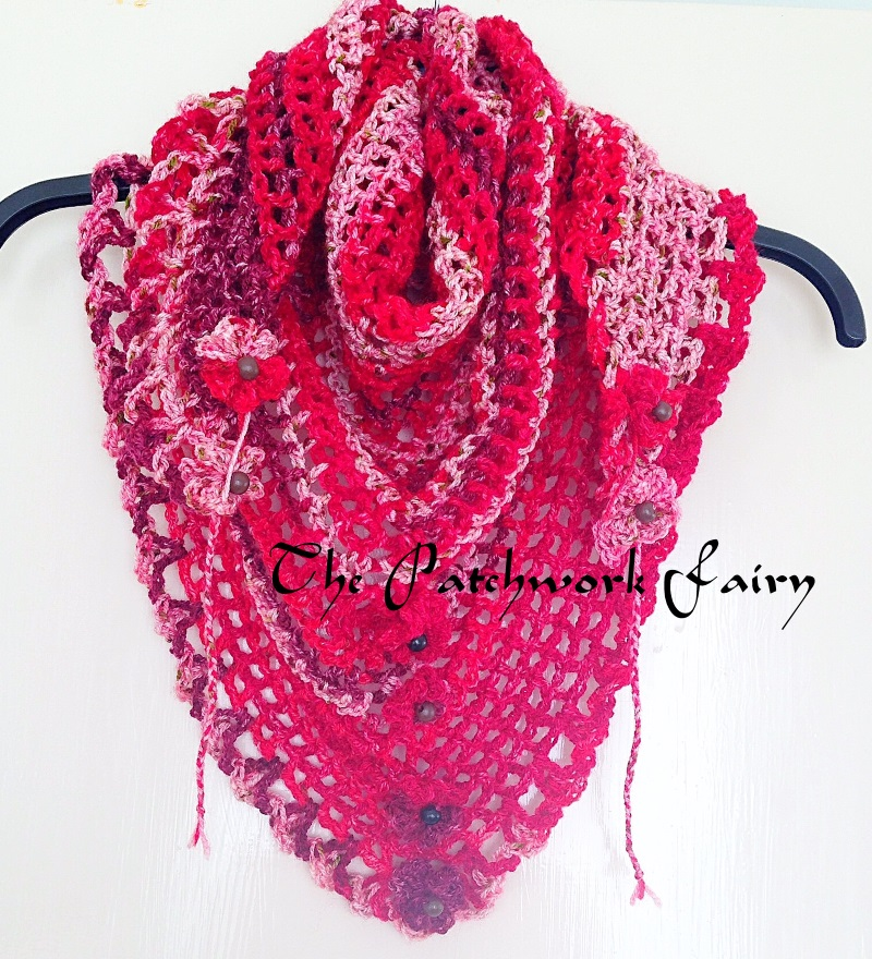 Scarf in Red varigated wool