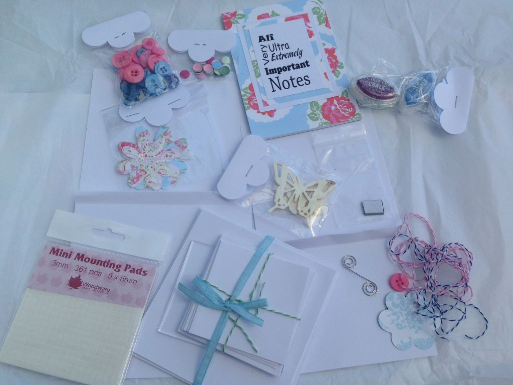 craft bits and bobs - even a note book with my name on!