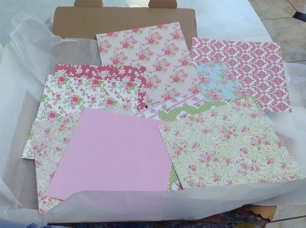 pretty floral craft papers