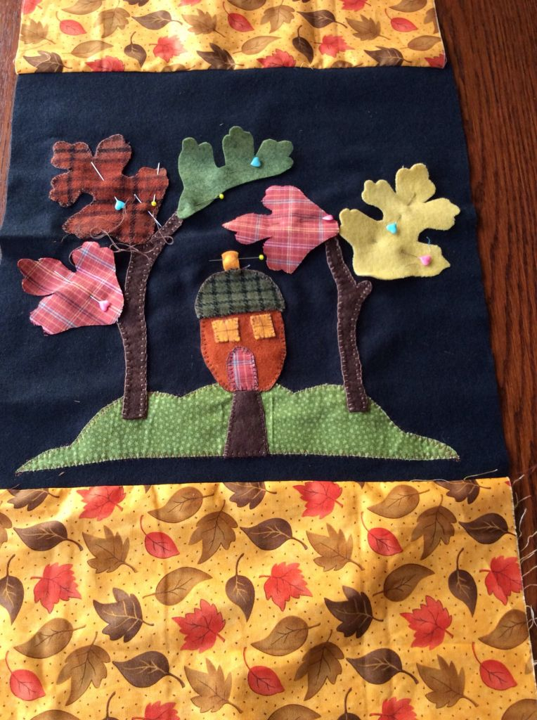Woodland cottage cushion cover
