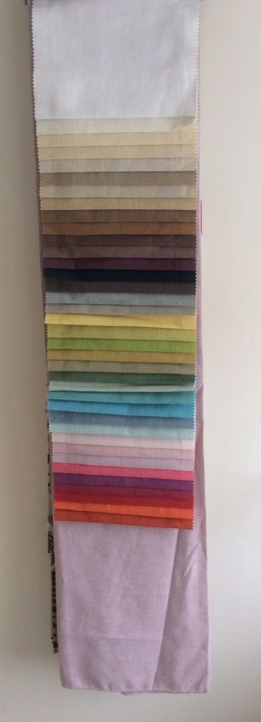rainbow of fabric shades