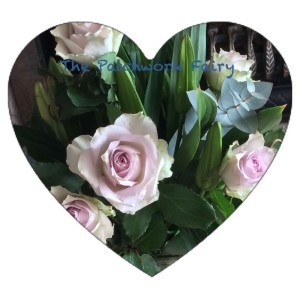 Roses - pink, cream and pale green