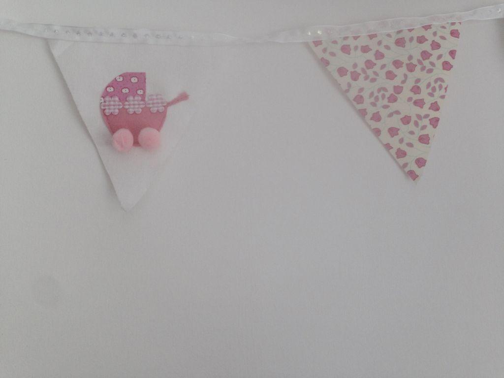Pink pram bunting