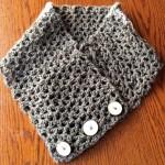 brown crochet cowl