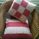 cotton cushions patchwork style