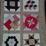 patchwork quilt made from 6 12 inch blocks