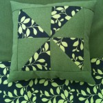 cushion cover, green, brown