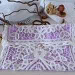 bridal purse in white