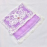 white lace bridal purse