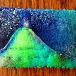 mixed media picture of glastonbury tor