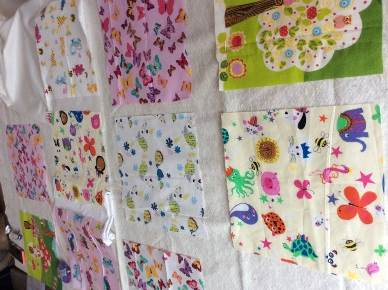 Fabric squares for a patchwork quilt