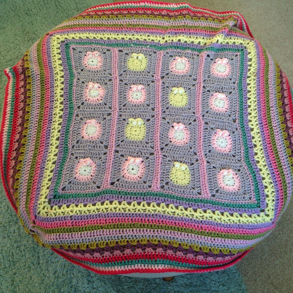 Baby blanket multi coloured