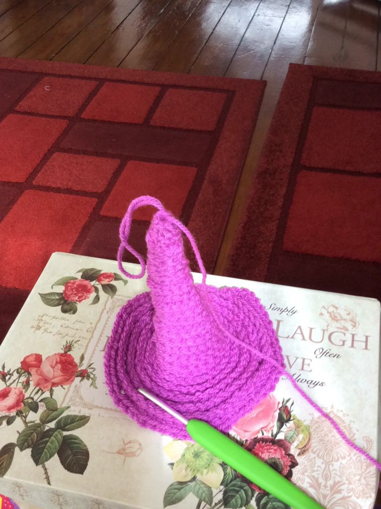 Crochet in shape of wizard's hat
