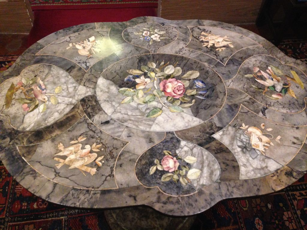Pretty, pink marble table top