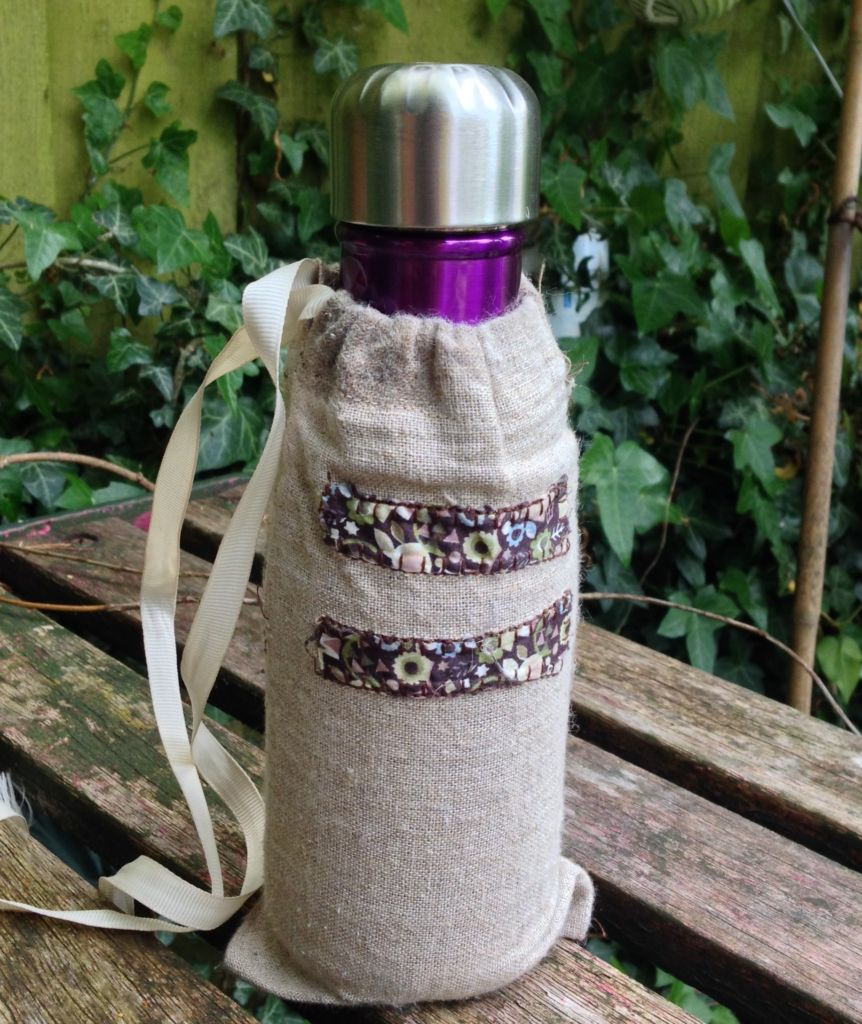 Linen bottle carrier