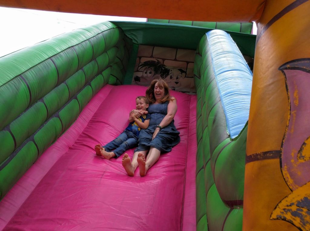 Giant bouncy slide