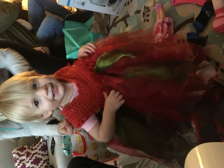 Red and green fairy dress