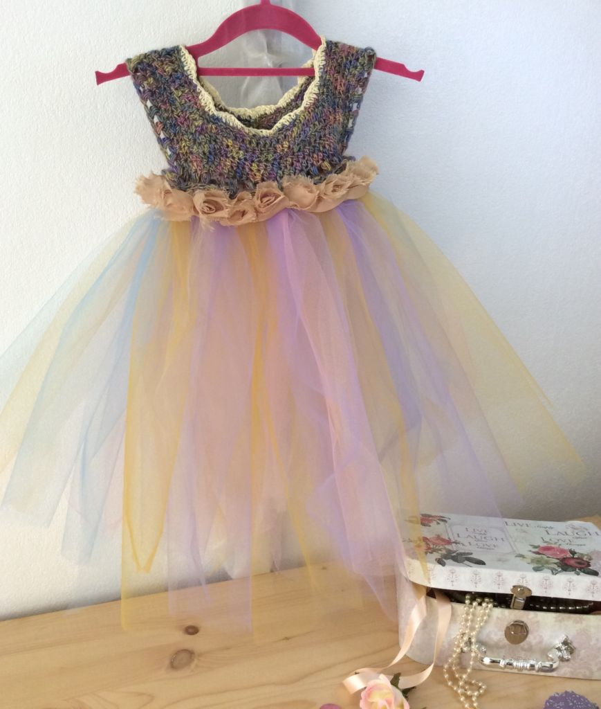Fairy dress with gold and lilac bodice