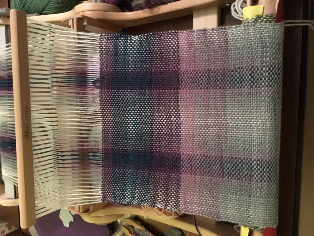 purple woven yarn