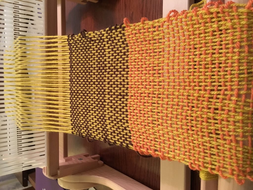 weaving in autumn colours
